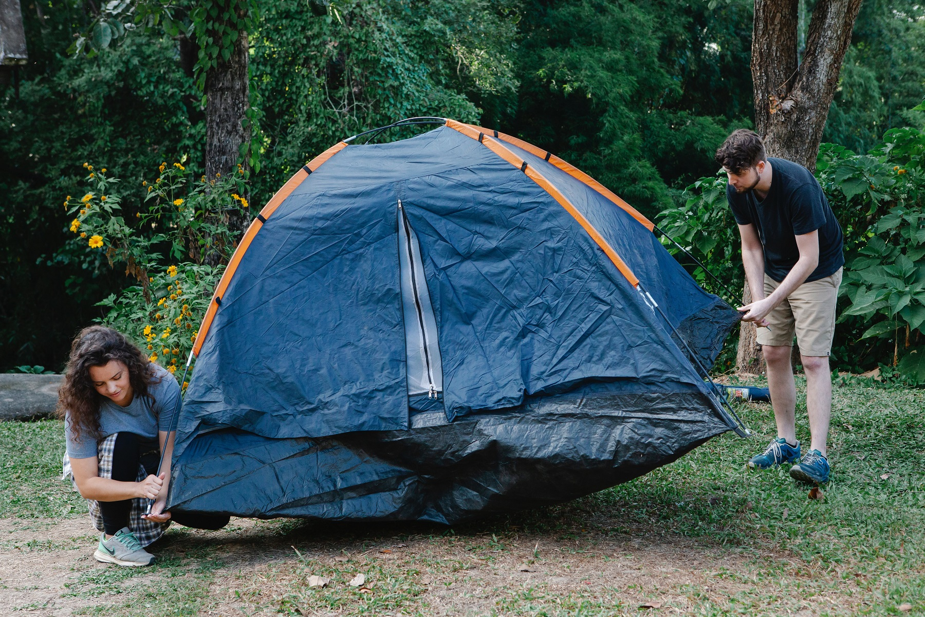 テントの片付け